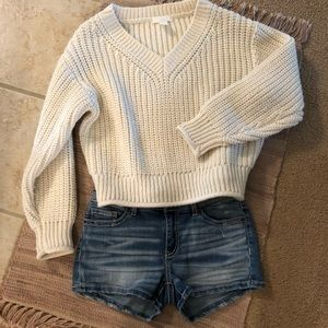 H&M crop chunky sweater